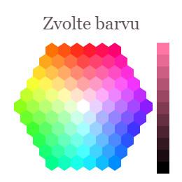 ukázka výběru barvy