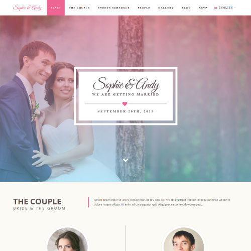 Svatební stránky Sophie