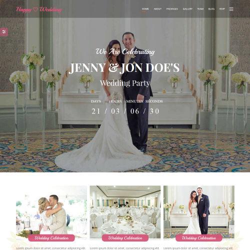 Svatební stránky Ashley