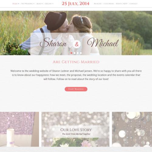 Svatební stránky Sharon